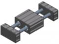 Zestaw prowadnic z tulejami liniowymi kulkowymi 8 160x80 D25