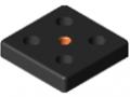 Płytka moc. ele. jezdno-wsporczych 8 80x80, M12, kolor czarny