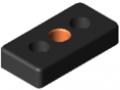 Płytka moc. ele. jezdno-wsporczych 8 80x40, M16, kolor czarny