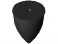 Odbojnik paraboliczny M12 D75x89, kolor czarny