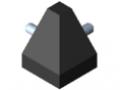 Zestaw łącznika 8 40x40-2x45°, kolor czarny