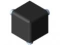 Zestaw łącznika 5 20x20x20, kolor czarny