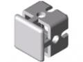 Łącznik krzyżowy do profili zaciskowych 6 30x30, białe aluminium zbliżone do RAL 9006