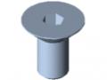 Śruba z łbem stożkowym DIN 7991 M10x20, ocynk.