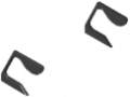 Zaślepki do listwy uchwytowej X, kolor czarny