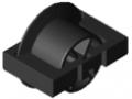 Wkładka rolkowa D30 z kołnierzem ESD, kolor czarny, zbliż. do RAL 9005