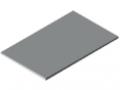 Blat stołu25-1200x750 powlekany tworzywem sztucznym, kolor szary zbliż. do RAL 7035