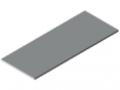 Blat stołu25-1500x600 powlekany tworzywem sztucznym, kolor szary zbliż. do RAL 7035