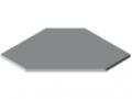 Blat stołu TRIGO 30-600 ESD HPL, kolor szary zbliż. do RAL 7035