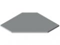 Blat stołu TRIGO 25-750 powlekany tworzywem sztucznym, kolor szary zbliż. do RAL 7035