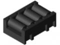 Wkładka rolkowa 4xD11, kolor czarny, zbliż. do RAL 9005