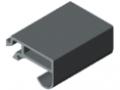 Profil uszczelniający drzwi T1 - XMS, kolor szary, zbliż. do RAL 7042