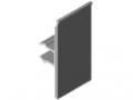 Profil oprawki 8 40 E-160, szary/przezroczysty