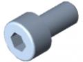 Śruba z łbem walcowym DIN 912 M4x8, ocynk.