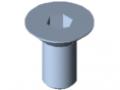 Śruba z łbem stożkowym DIN 7991 M12x25, ocynk.