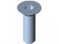 Śruba z łbem stożkowym DIN 7991 M12x40, ocynk.