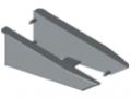 Profil uchwytowy 8 140x50, zestaw montażowy, kolor szary, zbliż. do RAL 7042
