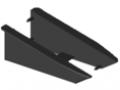 Profil uchwytowy 8 140x50, zestaw montażowy ESD, kolor czarny