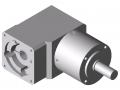 Przekładnia WP 60-7, białe aluminium zbliżone do RAL 9006