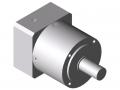 Przekładnia AP 80-3, białe aluminium zbliżone do RAL 9006