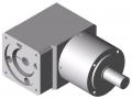 Przekładnia WP 80-3, białe aluminium zbliżone do RAL 9006