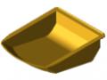 Pojemnik chwytakowy 8 105x130, kolor żółty zbliż. do RAL 1023