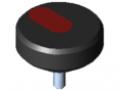 Śruba radełkowana Pi D44 M6x15 PA, kolor czarny