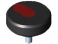 Śruba radełkowana Pi D54 M8x15 PA, kolor czarny