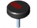 Śruba radełkowana Pi D54 M8x30 PA, kolor czarny