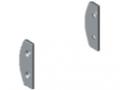Zestaw zaślepek do profilu pojemnikowego D30, kolor szary, zbliż. do RAL 7042