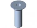 Śruba z łbem stożkowym DIN 7991 M5x16, ocynk.