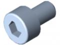 Śruba z łbem walcowym DIN 912 M3x5, ocynk.