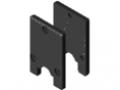 System zgarniająco-smarujący 8 D25, kolor czarny