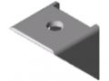 Kątownik 5 20x20 Zn, białe aluminium zbliżone do RAL 9006