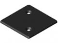 Zaślepka 8 80x80 Zn, kolor czarny