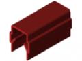 Profil maskująco-obejmujący 8, kolor czerwony zbliż. do RAL 3003