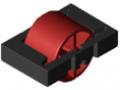 Wkładka rolkowa D30, kolor czerwony, zbliż. do RAL 3001