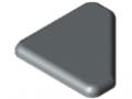 Zaślepka 8 40x40-45°, kolor szary, zbliż. do RAL 7042