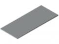 Blat stołu25-1800x750 powlekany tworzywem sztucznym, kolor szary zbliż. do RAL 7035