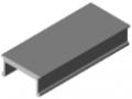 Profil maskujący X 8 aluminium, kolor naturalny