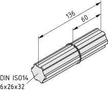 Wał łączący VK32 R50