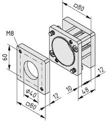 Obudowa sprzęgła 8 D30 80x80