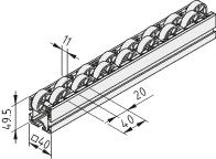 Listwa rolkowa 6 40x40 E D30/2 ESD