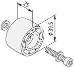 Rolka D39,5-25
