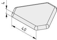 Zaślepka 8 3x40-120°, kolor czarny