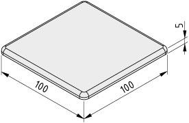 Zaślepka 10 100x100, kolor czarny