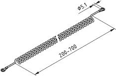 Kabel spiralny ESD końcówka typu oczko 5 mm