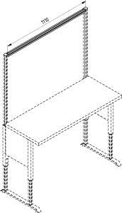 Nadstawka stołu , poprzeczka 1200 F