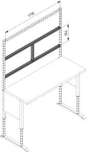Nadstawka stołu, zestaw poprzeczek H - 1800 F