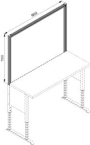Nadstawka stołu F 1800 otwarta
